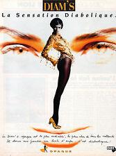 Publicité Advertising 1991 Lingerie DIM collant opaque bas DIAM'S