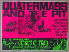 QUATERMASS AND THE PIT /CIRCUS OF FEAR. 1968 - HORROR  DOUBLE BILL - UK QUAD