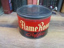 FLAME ROOM COFFEE CAN McGARVEY  ATWOOD  ORIGINAL VINTAGE STORE TIN 1 LB