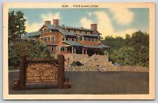 State Game Lodge Hotel Custer State Park Custer, South Dakota Linen Postcard