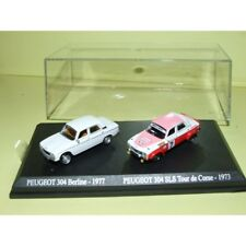 PEUGEOT 304 1977 et 304 SLS Rallye Tour de Corse 1973 UNIVERSAL HOBBIES 1:87
