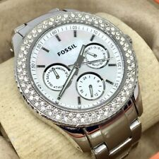 Authentic Fossil Stone Set Ladies Multi Dial Quartz Watch Mother of Pearl MOP