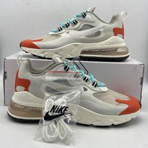 Nike Air Max 270 React AO4971-200 Light Beige Chalk Platinum Tint Mens Size