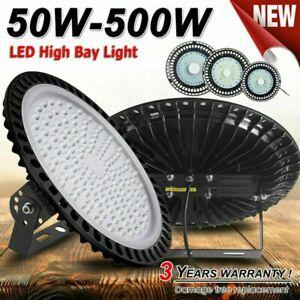 UFO LED Hallenbeleuchtung Deckenstrahler Werkstattleuchte Industrielampe Lamp DE