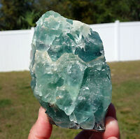BLUE Fluorite All Natural Crystal Self Standing Display Point Mexico SWEET GEMMY