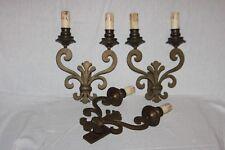 Série de 3 appliques en bronze.