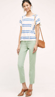 Anthropologie Pilcro And The Letterpress Stet Chino Capris Pants Mint Green 26