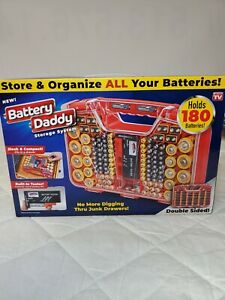 Battery Daddy 180 Battery Organizer and Storage Case Caddy with Tester New
