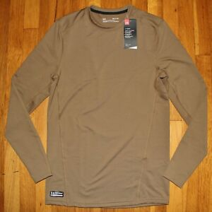 Under Armour Tactical Crew Base ColdGear Reactor LS Shirt Mens S 1316936-728 New