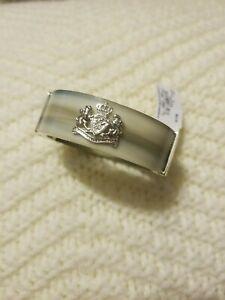 Lauren Ralph Lauren acetate horn crest hinge bangle bracelet
