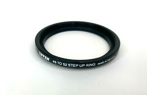 Tiffen 49mm to 52mm Step-up ring Metal adapter double threaded lens filter USA
