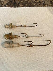 (3) Vintage EEL SKIN RIG Striper surf plug saltwater Fishing Lure collection LOT