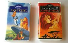 Disney's The Lion King AND The Lion King II Simba's Pride, Lot of 2 VHS Tapes