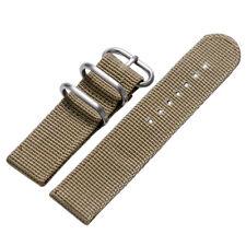 20/22mm Nylon Fabric Canvas Wrist Watch Band Strap Military Sport Classic Buckle