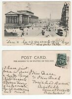 Great Britain ROCK FERRY BIRKENHEAD 1903 squared circle cancel on KEV11 postcard