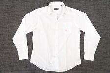 GEOFFREY BEENE STRIPED WHITE 16.5 36 37 DRESS BUTTON FRONT SHIRT MENS DEFECT
