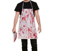 BLOODY APRON HALLOWEEN FANCY DRESS DEAD CHEF ZOMBIE DOCTOR SCARY SPLATTER SET