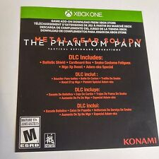 Metal Gear Solid V: The Phantom Pain DLC CARD (Xbox One) #2129