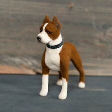 American Staffordshire Terrier wool statue Needle felted Amstaff copy