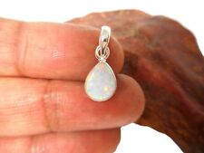 White Opal  Sterling  Silver  925 Gemstone  Pendant