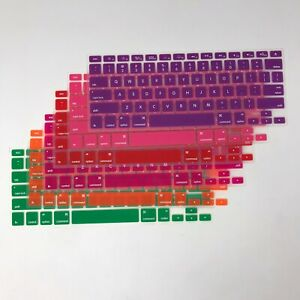 Set 6 Keyboard Skins Cover MacBook Air Notebook Pink Red Purple Green Orange
