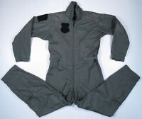 Vintage 80s Military Sage Green Flying Flight Suit Coveralls Overalls 40R