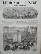 LE MONDE ILLUSTRE 1871 N 736 RECHERCHE DES REFRACTAIRE DANS LE 9e ARRONDISSEMENT