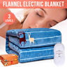 Electric Blanket Queen King Single Heated Fully Fitted Warm Bed Throw Rug Cover