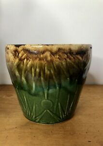 """Vintage Sun and Moon Ransbottom Planter Jardiniere 7"""" Tall / 8"""" Wide Across Top"""