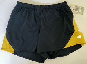 NEW BALANCE Women's Small Black Gold Running Jogging Shorts A SNAIL'S PACE New