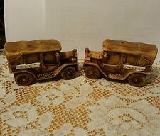 Pair of Salt & Pepper Shakers- Old Time Vintage Cars