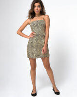 MOTEL ROCKS Boyasly Dress in Leopard Brown S Small  (mr78)