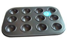 Mini Muffin Tin,12 Dome Moulds,Yorkshire Pud Baking Sheet Tray, Cake Pop, Bomb