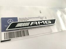 OEM Style Chrome Black AMG Badge Emblem Sticker for Benz A C E GLC GLA GLE CLA