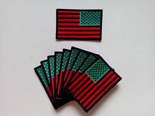 """10 Reverse RASTA USA Flag Embroidered Patches 3.5""""x2.25"""""""