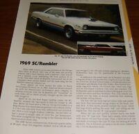 ★★1969 AMC SCRAMBLER RAMBLER SC SPECS INFO PHOTO 69 390 HURST AMERICAN MOTORS★★