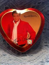 NOS 2003 ELVIS PRESLEY RED/WHITE/YELLOW/GOLD RUSSELL STOVER HEART CANDY TIN