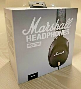 Marshall MONITOR Over-Ear Headphones w/ Microphone - Black NEW Sealed