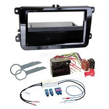 VW CC 12 1-DIN radio de voiture Set d'installation Câble adaptateur brillant