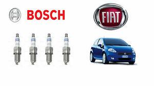 4 Bujías Bosch Fiat Grande Punto 1.2 1.4 Gasolina 65-69-75-77 Cv 48-51-55-57Kw