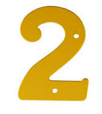 2'' Gold Anodised Numeral 2