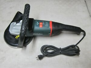 """METABO ANGLE GRINDER W 24-230 MVT 4.5HP 15A 9"""" 0-6600 RPM SWIVEL HANDLE GERMANY"""