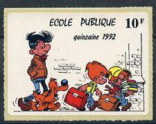 ERINNOPHILIE / STAMP TIMBRE VIGNETTE AUTOCOLLANTE ECOLE PUBLIQUE 1992
