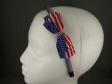 Red White Blue 4th of July plastic headband grip teeth hair band accessory