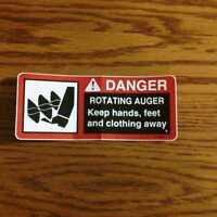 John Deere 37,37A  Snowblower Auger Rotating Decal  110,112,212,214,216,210