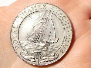 Garrard 1925 Royal Thames Yacht Club Silver 150th Anniversary Medal Boxed #GH33