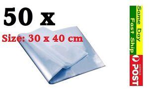.50x Heat Shrink Large Bag Wrap Film 30x40cm Seal Gift Packing PVC Shrinkable AU