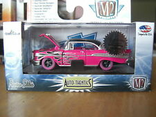 M2 1957 Chevy Bel Air Super Chase Hobby Pink with flames  1/64 Diecast