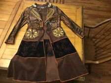 Basil and Maude long dress coat Steampunk Embroidered Embellished S Small