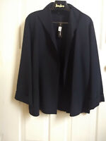 Linda Allard Ellen Tracy Open Front Jacket Size 14 / New with tag